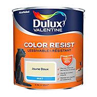 Peinture murs et boiseries Dulux Valentine Color Resist jaune doux mat 2,5L