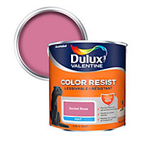 Peinture murs et boiseries Dulux Valentine Color Resist sorbet rose mat 2,5L