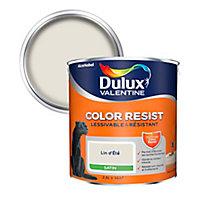 Peinture murs et boiseries Dulux Valentine Color Resist lin d'été satin 2,5L