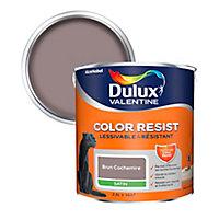 Peinture murs et boiseries Dulux Valentine Color Resist brun cachemire satin 2,5L