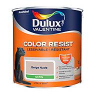 Peinture murs et boiseries Dulux Valentine Color Resist beige nude satin 2,5L