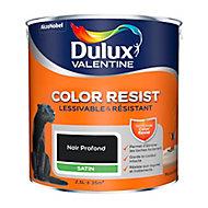 Peinture murs et boiseries Dulux Valentine Color Resist noir profond satin 2,5L