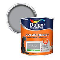Peinture murs et boiseries Dulux Valentine Color Resist gris parfait satin 2,5L