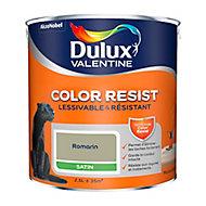 Peinture murs et boiseries Dulux Valentine Color Resist romarin satin 2,5L