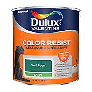 Peinture murs et boiseries Dulux Valentine Color Resist vert paon satin 2,5L