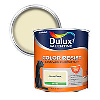 Peinture murs et boiseries Dulux Valentine Color Resist jaune doux satin 2,5L