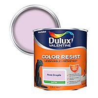 Peinture murs et boiseries Dulux Valentine Color Resist rose dragée satin 2,5L