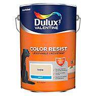 Peinture murs et boiseries Dulux Valentine Color Resist ivoire mat 5L