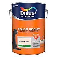 Peinture murs et boiseries Dulux Valentine Color Resist première lueur satin 5L