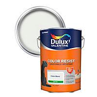 Peinture murs et boiseries Dulux Valentine Color Resist coton blanc satin 5L