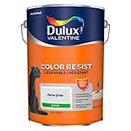 Peinture murs et boiseries Dulux Valentine Color Resist perle grise satin 5L
