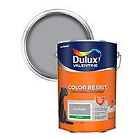 Peinture murs et boiseries Dulux Valentine Color Resist gris parfait satin 5L