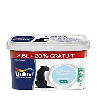 Peinture murs et boiseries Dulux Valentine Crème de couleur bleu rêveur satin 2,5L + 20%