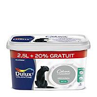 Peinture murs et boiseries Dulux Valentine Crème de couleur gris alpaga satin 2,5L + 20%