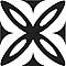 Adhésif Draeger la carterie pétale noir et blanc 15 x 15 cm
