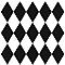 Adhésif Draeger la carterie losanges verticaux noir et blanc 15 x 15 cm
