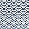 Adhésif Draeger la carterie vagues bleu et blanc 15 x 15 cm