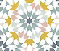 Adhésif Draeger la carterie azulejos ocre 15 x 15 cm