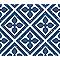 Adhésif Draeger la carterie fleur losange bleu 15 x 15 cm