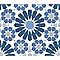Adhésif Draeger la carterie azulejos bleu 15 x 15 cm