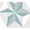 Adhésif Draeger la carterie étoile pastel 15 x 15 cm