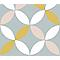 Adhésif Draeger la carterie fleur jaune 15 x 15 cm