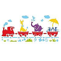 Pochoir adhésif Raphaël Train animaux