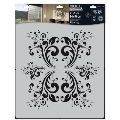 pochoir adh sif raphael motif d co castorama. Black Bedroom Furniture Sets. Home Design Ideas