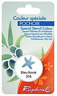 Godet d'huile solide spéciale pochoir bleu foncé