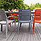 Chaise de jardin en résine Charlotte Country taupe