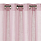 Voilage aspect lin rose 145 x 260 cm