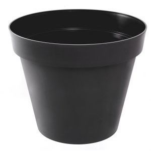 Pot rond polypropylène EDA Zen gris foncé Ø60 x h.47 cm