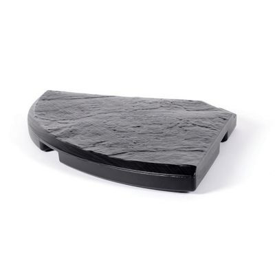 Pied de parasol dalle béton Eda décor pierre 18kg | Castorama