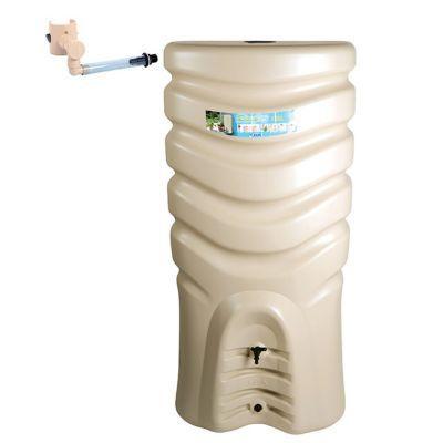 Récupérateur d'eau EDA Récup'O 550L beige + collecteur P Capt'eau
