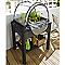 Espace potager Eda Veg&table + serre gris anthracite 79 x 59 x h.120 cm