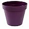 Pot rond polypropylène Eda Toscane prune Ø80 x h.66 cm
