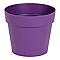 Pot rond plastique Eda Toscane prune Ø13 x h.11cm