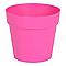 Pot rond plastique Eda Toscane rose fuchsia Ø15 x h.13 cm