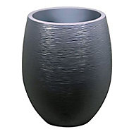Pot rond polypropylène Eda Egg graphit anthracite Ø50 x h.60 cm