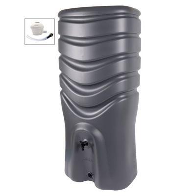 Récupérateur d'eau EDA Récup'O 350L gris anthracite + collecteur