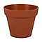 Pot rond polypropylène EDA Toscane potiron ø20 x h.17 cm