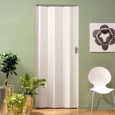 Porte extensible PVC blanc cérusé Spacy 205 x 84 cm | Castorama