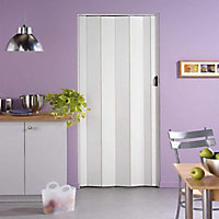 Porte extensible PVC blanc Cara 205 x 84 cm