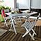 Chaise de jardin en résine Miami anthracite