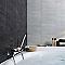 Lambris PVC Element tile M Gris (vendu à la botte)