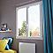 Fenêtre PVC blanc 2v 100 x h.135 cm, tirant droit