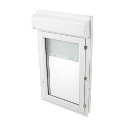 Fenêtre Pvc Blanc 1v 60 X H75 Cm Tirant Droit Volet Roulant