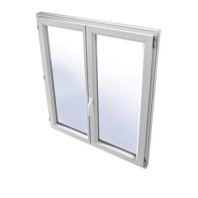 Fenêtre pvc 2 vantaux à la française tirant droit GROSFILLEX blanc - 100 x 95 cm