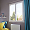 Fenêtre PVC blanc 2v 100 x h.105 cm, tirant droit