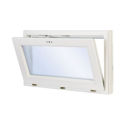 Fenêtre pvc 1 vantail abattant GROSFILLEX blanc - 60 x h.45 cm